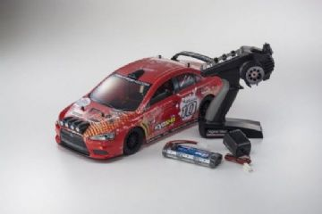 KYOSHO K.30919T2 FAZER VE READYSET LANCER EVO-X KX4 (KT231/BATT/CHARGER) - RED